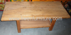 old elm wood coffee table