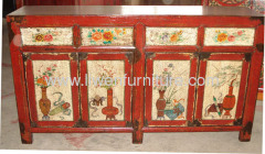 Antique hand painted consoles