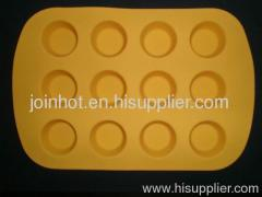 12 trays in one sheet silicone muffin pan cupcake cases