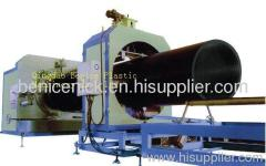 Pipe machine for hollow winding pipe
