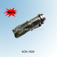Classic Design! Promotion!Mini Telscopic CREE Q5 LED Flashlight ACK-1024 (X1)