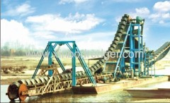Single Raw Chain Bucket Hopper Digging Sand Dredger