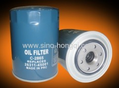Auto oil filter 26311-45001 / C-2865 for HYUNDAI