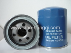 Auto oil filter 26300-42030 for HYUNDAI