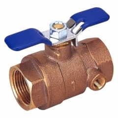 Bronze Ball Valve With Side Tap