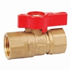 Brass Gas Ball Valve With Aluminium Handle