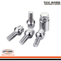 4 lock bolts and key adapter