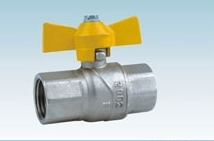 Brass Gas Ball Valve With Nickle plated
