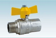 Brass FxM Thread Gas Ball Valve With Aluminium Butterfly Handle