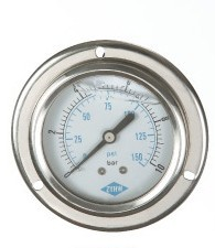 high quality stainess steel air pressure gauge