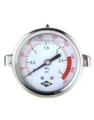 Aseismatic Panel Pressure Gauge