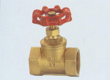middle pressure forged brass stop valve with red casting iron handle