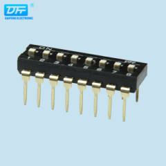 black color ROHS 2.54 pitch Dip Switches Electrical Dip Switches Dip Switch Manufacturers
