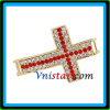 Supply sideway cross beads for shamballa bracelet for necklace