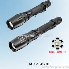 500 lumens Telescopic Aluminium LED flashlight CREE XML-T6 Bulb ACK-1045-T6 (V2-858)