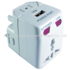 Worldwide Adapter with USB Charger