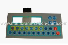 tactile membrane switches with LCD window