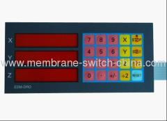 LCD window membrane keypad