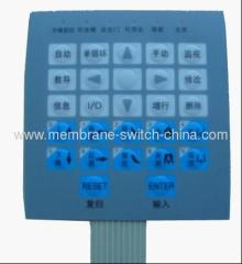 LED membrane switch panel