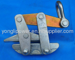 Come along clamp grip for anti-twist steel wire rope