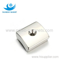 Permanent neodymium Iron Boron arc hole magnet