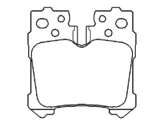 brake pad set 04466-0W010 LEXUS