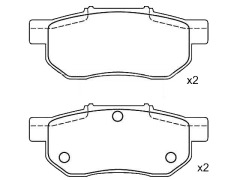 HONDA CIVIC rear brake pad sets