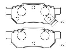 HONDA CIVIC rear brakes