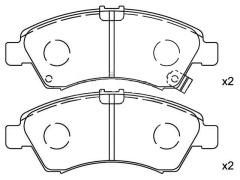 HONDA front brake pad sets