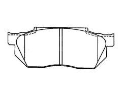 HONDA PRELUDE front brake pad sets
