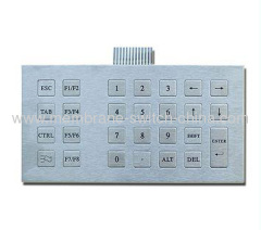 stainless steel keypad / keyboard
