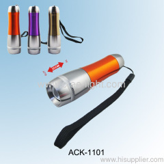 1 Watt Aluminum Telescopic Flashlight ACK-1101-1W