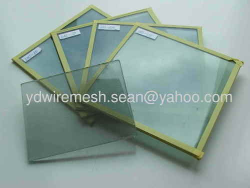 Stainless steel electromagnetic shielding glass mesh