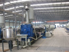PE water/gas supply plastic pipe production line