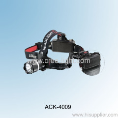 1 Watt Plastic LED Headlamp ACK-4009-1W