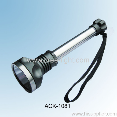 Rechargeable AluminumStainless Steel CREE T6 Flashlight ACK