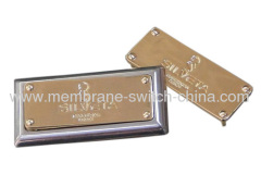 fashion garment & bag metal label