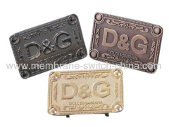 high quality metal label/ nameplate