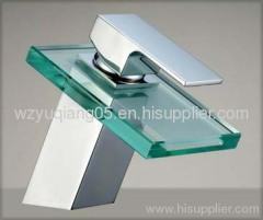 glass faucet;waterfall tap