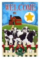 Custom Milch Cows garden flag