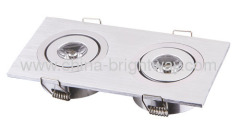 Rectangular 2x1W LED ceiling light