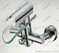 glass bathtub mixer;waterfall tap