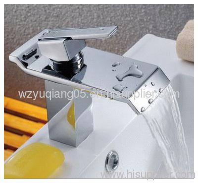 waterfall faucet;brass tap;basin mixer