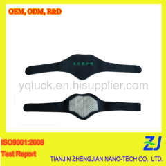 Self-heating tourmaline neck brace