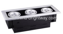 9W LED Grid Spotlight With Three Heads