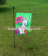 custom rabbit garden flag