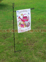 custom waterpot garden flag