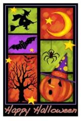 halloween garden flag;