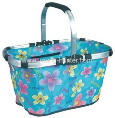 aluminum frame fabric folding shopping baskets