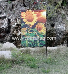 Sunflower garden flag